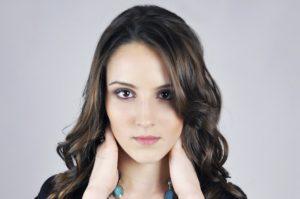 Gesicht einer Frau mit schöner haut Hautpflege Kosmetik